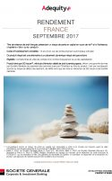 Rendement France Septembre 2017